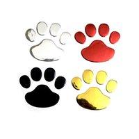 Bir Çift Araba Sticker Serin Tasarım Pençe 3D Hayvan Köpek Kedi Ayı Ayak Baskılar Ayakizi 3 M Çıkartması Arabalar Etiketler Gümüş Altın QC538