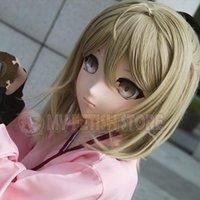Festa Máscaras (MSM-01) Doce Menina Resina 3/4 Cabeça Completa Personalizar Cosplay Papel Japonês Play Anime MSM-01MSM-02 Kigurumi Mask Crossdresser Boneca