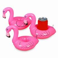 Hava enflasyonu oyuncak mini flamingo havuz şamandıra içecek tutucu şişme yüzer yüzme havuzu banyo plaj parti çocuk biblo olabilir