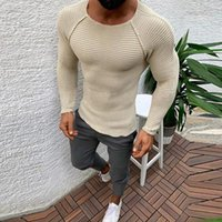 Men's Sweaters 2022 Men Knitted Long Sleeve O-Neck T-shirts Autumn Vintage Solid Casual Tee Spring Fashion Slim Tops Pullover Streetwear