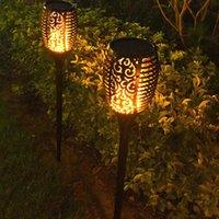 태양 화염 램프 야외 토치 조명 안전 방수 빛 깜박임 정원 장식 잔디 풍경 램프