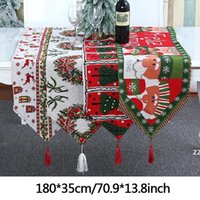 Navidad Dibujos animados de alces Corredor Decoración Santa Claus Knit Dining Drink Skill Tassseles Árbol de Navidad Familia Gift Kitchen Hwe9097