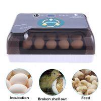 Waco Egg inkubator digital helt automatisk för kyckling fjäderfä Hatcher ankor fåglar, vridning och fuktighetstemperatur kontroll LED ljusare, 12-ägg