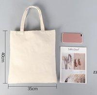 DIY Werbung Sublimation Canvas Tasche Umweltfreundliche leere Einkaufen Handtasche Frauen Baumwolltaschen Wärmeübertragung Druck HWF7632