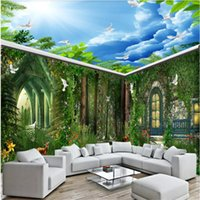 Wallpapers Custom Po Wallpaper 3D Blue Sky And White Clouds Ceiling Zenith Mural Living Room Bedroom El Nature Landscape Frescoes