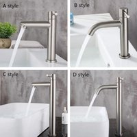 G1 2 304 Stainless Steel Single Handle Bathroom Basin Sink Faucet Single Cold Water Kitchen Balcony Tap Bathroom Accessories