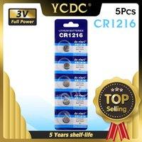 5 pçs / lote 3V CR 1216 CR1216 Botões Baterias DL1216 BR1216 Bateria de lítio de moeda de células 5034LC para relógio de brinquedos eletrônicos calculadores