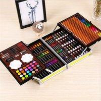 Set regalo 145 PCS Creative Learning Cancelleria Disegno artistico per bambini Super Mega Art Set Penna acquerello non tossico