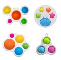 I lager stilar baby sensory enkla dimple leksaker gåvor vuxen barn rolig anti-stress stress reliver push bubble fidget leksak