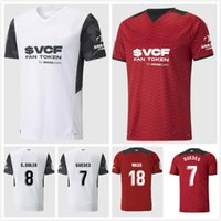 21 22 Valencia Soccer Maillots 2021 2022 Enfants Accueil Gardedes Gameiro Florenzi Red Blanc Camisetas de futbol Rodrigo M.Gomez Hommes Jersey Kit de football shirts