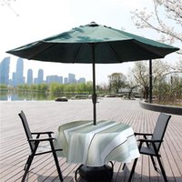 Table Cloth Outdoor Round With Umbrella Hole Zipper Water Repellent Striped Terrace Garden Decor Storage Bag
