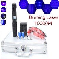 BQ6 450nm Ayarlanabilir Odak Mavi Lazer Pointer Pen Lazer Işın Işık Batarya ile Su Geçirmez Şarj Carjerjgles