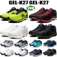 2021 Top Quality Gel-K27 Homens Mulheres Correndo Sapatos Cal Zest Preto Clássico Vermelho Triple Branco Platinum GS Mens Sneakers Treinadores US 4-11