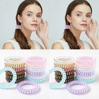 Telephone Wire Elastic Hair Band Rope Silicone Party Rubber Bands Scrunchies Ponytail Holder Gum For Women Girls HairTie WLL505