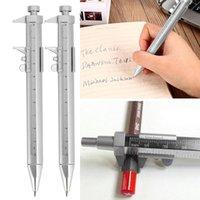 Ballpoint Pens Silver Vernier Calipers Pen Gel Inkt 0.5mm Roller Ball Multifunctionele Kantoorbehoeften 2 Kleuren Drop