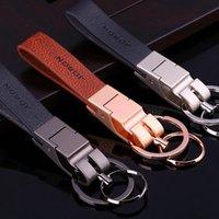 Jobon High Quality Keychain Leather Rope Custom Lettering Gift For Car Key Chain Holder Best Gift For Women Key Ring Bag Pendant