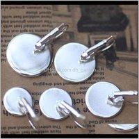 Ear Earrings Jewelryfashion 10Pcs Lot 7Size Sier Plating Round Cabochon Setting Earing Cuff Bases Blank Flat Clip On Earringsjewelry Making