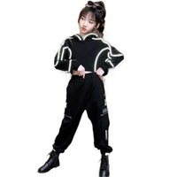 Clothing Sets Teenage Girls Clothes Set Hoodie And Sweatpants Two Pieces Autumn Reflect Suit For Kids Girl 4 5 7 9 10 11 12 13Yrs