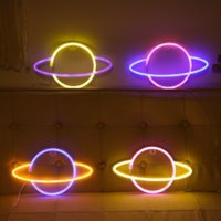 LED Neon Sign Light SMD2835 Indoor Lamp Night Planet Space Mixed Color For Holiday Lighting Xmas Party Wedding Table Decorations EUB Wall Lamps