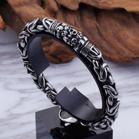 Link, Chain Fashion Retro Gothic Skull Metal Braided Bracelet Men's Punk Rock Motorcycle Jewelry