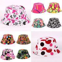 Wide Brim Hats Summer Panama Bucket Hat Hip Hop Cap Women Men Fashion Reversible Bob Chapeau Femme Floral Fisherman