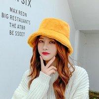 دلو قبعة قبعة الأطفال أزياء الأطفال الخريف والشتاء أفخم حوض الدافئة قصيرة بريم فتاة لينة JK HY002