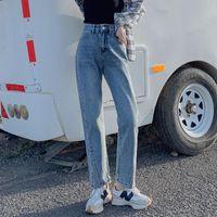 Women's Jeans Shnsophi Mom Boyfriend Woman Autumn Winter High Waist Loose Casual Straight Denim Pantalones Vaqueros Mujer