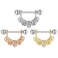D0984 (3 couleurs) Bague de noix de style Nice 20 pcs Pierre en pierre de pierre piercing bijoux corporels