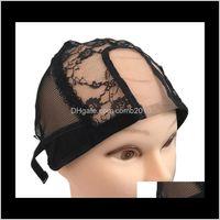 Сетка U-Part WiG Cap для изготовления кружевных париков Черные кружевные парики для изготовления париков Регулируемая стрижка PALLET WEAVET NET 10 шт. HFUKM SLET