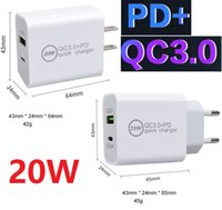 Best 20W PD Type-C QC3.0 USB Fast Charger Phone US EU Plug Adaptor Wall Chargers For iPhone 12 Pro Samsung Oneplus HTC Xiaomi AFC FCP