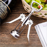 Bottle Opener Glossy Silver Zinc Alloy Corkscrew Wine Openers High Grade Wine Opener on Promotion Kitchen Tools JJA241