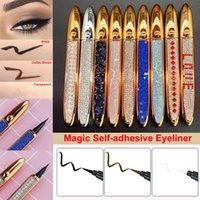 Diamante Magia Eyeliner Auto Adesivo Lápis Lápis para Maquiagem Falso Eyelashes Eye Liner Longo Durando Sem Colagem Não Magnética