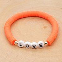 NeeFu WoFu DIY Digital Letter bracelets Boho Name Women Number Handmade Bracelets Custom Disc Beads Digital Pulseras African 1890 Q2