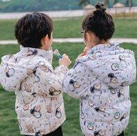 Designer Girls boys Down Coat kids boy Cotton Padded Little bear Jackets Coats children Keep Warm Thick Hooded Zipper Outerwear Baby Girl Clothes 90-130cm