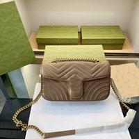 Frauen Handtaschen Umhängetasche 3 Größe Echtleder Hohe Qualität Dame Mode Marmont Bags Original Crossbodypurses Rucksack Tote 00