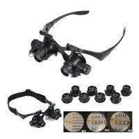 Binokular Schmuckuhr Reparatur 8 Objektivlupe mit LED-Lichtwerkzeugen Kits