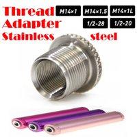 Paslanmaz Çelik Konu Adaptörü 1/2-28 ila 5/8-24 M14 * 1 M14 * 1.5 SS Solvent Tuzak Adaptörü Napa 4003 Wix 24003 için