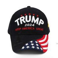 2024 Trumpf Präsidentschaftswahlen Präsidentschaftswahlkappe Trump Hut Baseballkappe Einstellbare Geschwindigkeit Rebound Baumwolle Sportkappe FWF5983