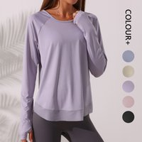 Women Tracksuit Tops Tees T-Shirt Clothing Yoga Blouse Fitness Sports Running Beauty Back Leisure Outdoor Quick-drying Women's Long-sleeved Wear joggers
