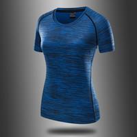 Ледяная шелковая быстрая сушка футболка с короткими рукавами летняя дышащая йога бегущая фитнес женские круглые шеи открытый влагопоглощающий быстрый сухим
