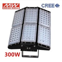 Industrial CREE LED Chip+Meanwell Driver Flood Light 100W 150W 200W 300W 500W Tunnel Lamps Engineering Project Lighting Floodlights