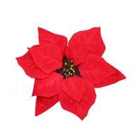 Decorative Flowers & Wreaths 50pcs Home Decor Christmas Tree Scrapbooking Ornaments Wedding Party Accessories DIY Gift Velvet Artificial Flo
