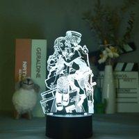 LED 3D Nightlight Anime Night Night Light Acrílico Lâmpada De Mesa Lâmpada Venceita Hanako-Kun Kids Fãs Presente Partido Casa Decoração