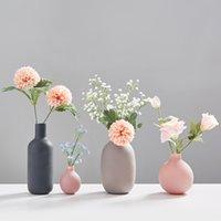 Ev Dekorasyon Aksesuarları Çiçekler için Modern Çiçek Vazo Vazolar Seramik Vazo Küçük Oturma Odası Dekorasyon Ofis Dekorasyon
