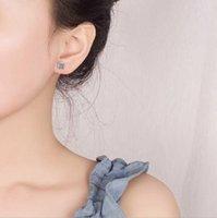 Versión sencilla y fresca de 925 Pendientes de plata esterlina. Temperamento femenino Retro Sun Flor Charm Jewelyry Stud