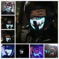 Светодиодные световые мигающие лица маска для лица новинка освещение Хэллоуин партии маски неоновые красочные светлые мульти стиль косплей туши ужасный капюшон