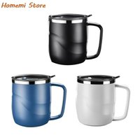 Mugs Stainless Steel Coffee Mug With Lid Portable Travel Tumbler Pitcher Milk Tea Cups Office Water Double Wall