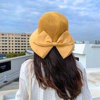 Шляпа для женщин весна и лето Новый модный корейский стиль вязаный рыбак шляпа дышащая солнцезащитная защита от солнца солнце