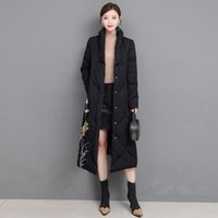Chinese Style Parka Coat Print Winter Cotton Padded Long Jacket Fashion Thick Warm Coats ZHL6571