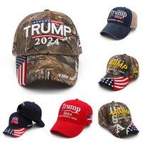 Camouflage US-Flagge Trump 2024 Kugelhut Sommer Baseball Ball Kappen Unisex Designer Snapback Sport Joggen im Freien Hüte Beach Visier G349T1G
